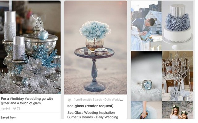 Real Bride Caitlin's winter wedding inspiration board.