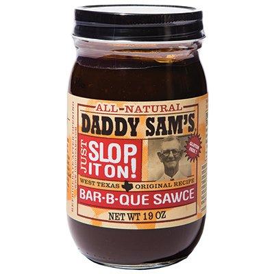 <strong>Daddy Sam's</strong> | <em>Bar-B-Que Sawce</em> | West Texas pedigree, Minnesota family. Zesty and perfect.