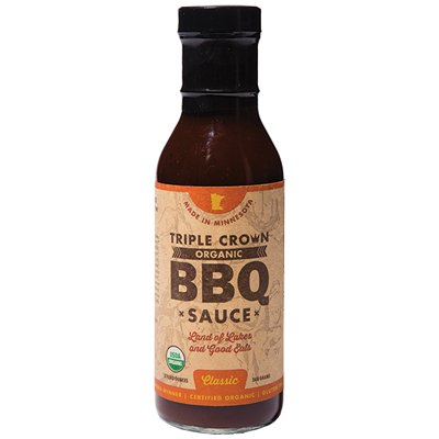 <strong>Triple Crown Organic BBQ Sauce</strong> | <em>Classic</em> | Not as sweet as other homegrowns.