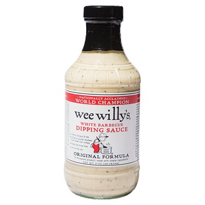 <strong>Wee Willy's</strong> | <em>White Barbecue</em> | Tangy mayo-based meat dressing is hard to find.