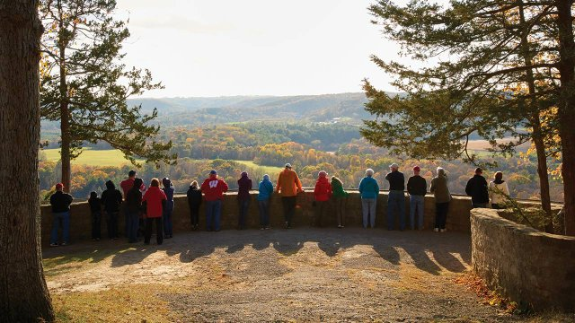 An overlook at Wildcat Mountain State Park.