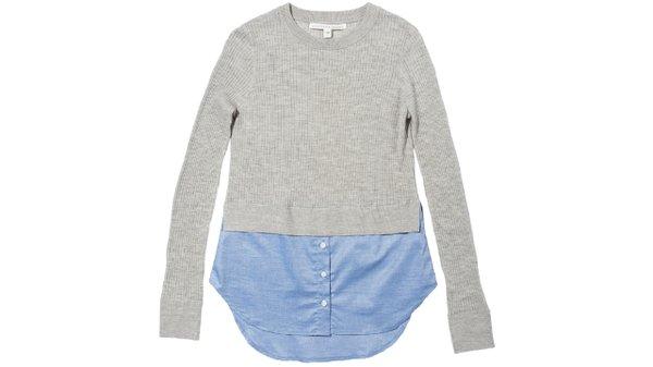 layered look sweater