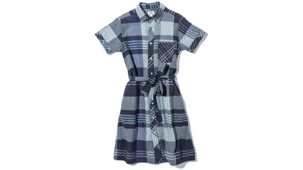 Short sleeve plaid dress