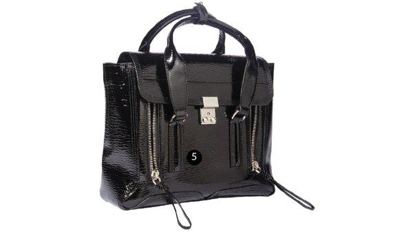 Patent leather medium satchel