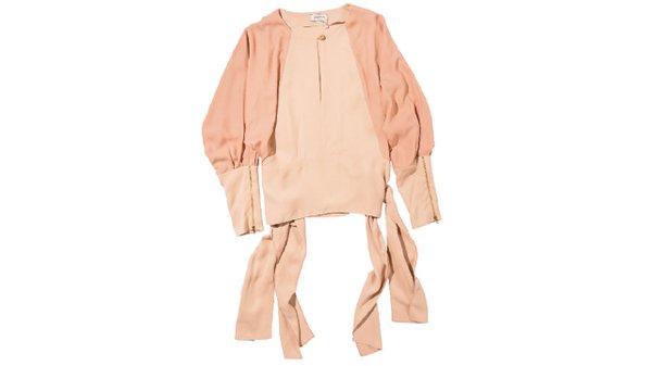 Zipper sleeve top blouse