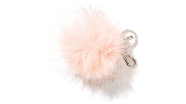 Faux fur pom bag