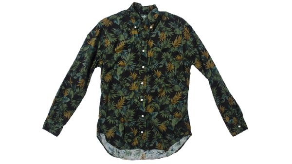 Floral camo button down