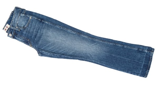 High rise cropped boot cut jeans