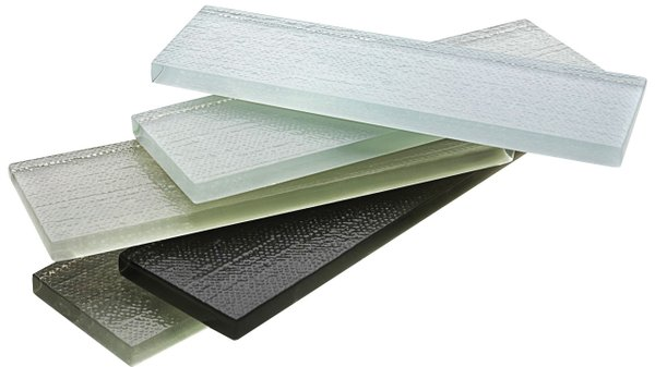 Textured glass tiles