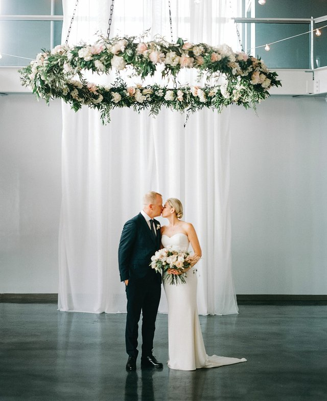 Floating floral for wedding decor