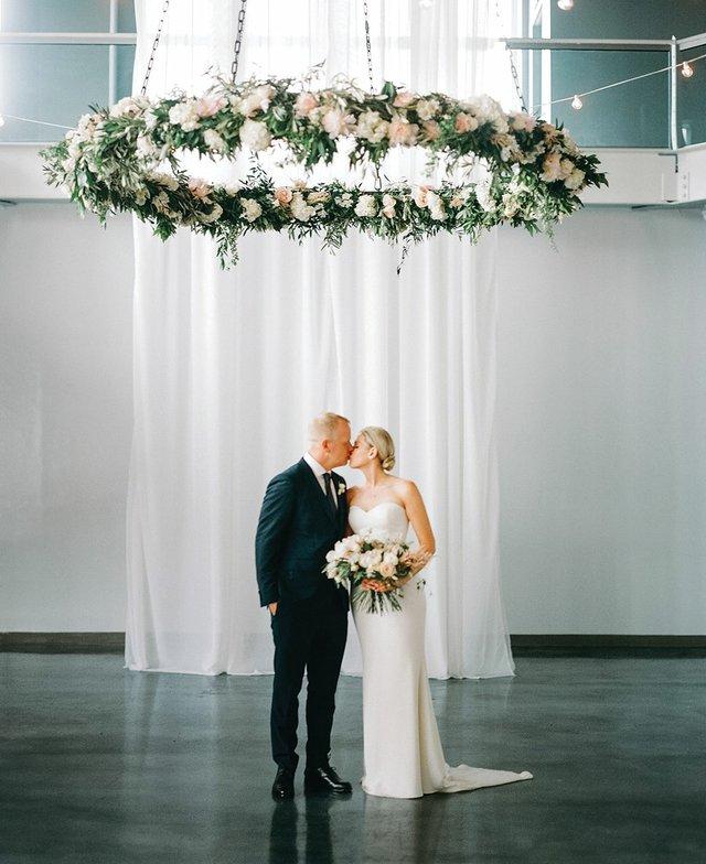 Floating floral for wedding decor
