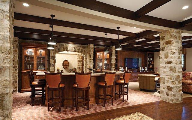 English pub room by Ramsey Engler Ltd.