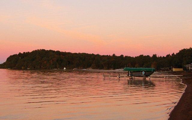 Sunset on a lake in Brainerd, Minnesota