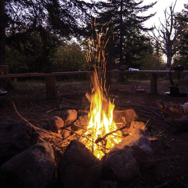Campfire on the North Shore, Grand Marais, Minnesota