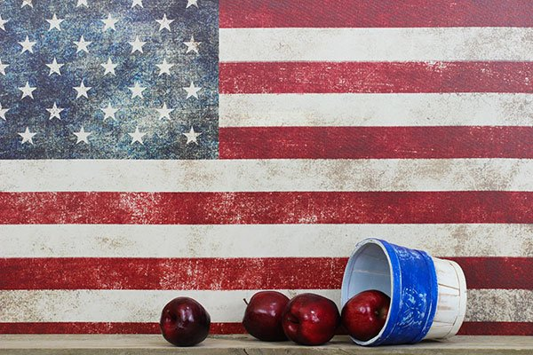 Apples and American Flag