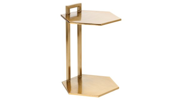 Nate Berkus End Table in Bright Gold
