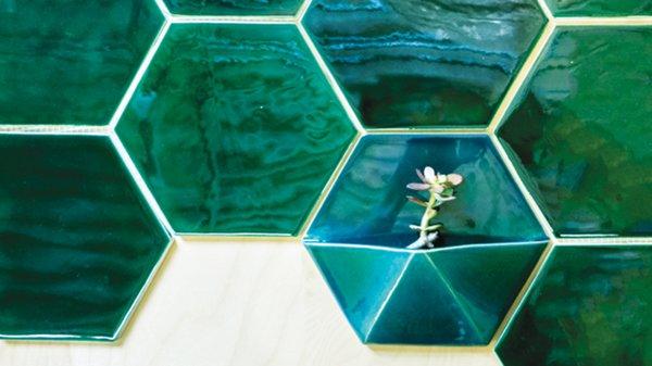 Mercury Mosaics Honeycomb Planter