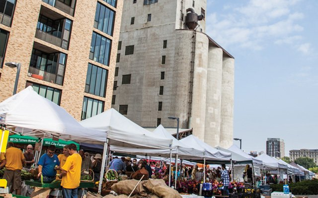 Mill City Farmers Market in downtown Minneapolis