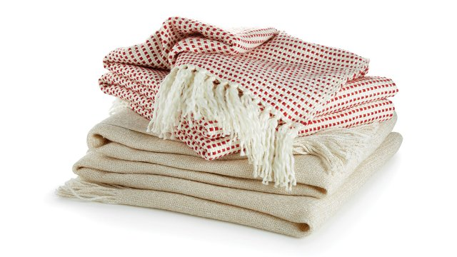Peppermint throw from Crate and Barrel