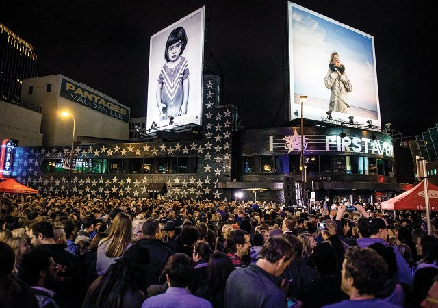 Prince fans gathering outside First Avenue in Minneapolis