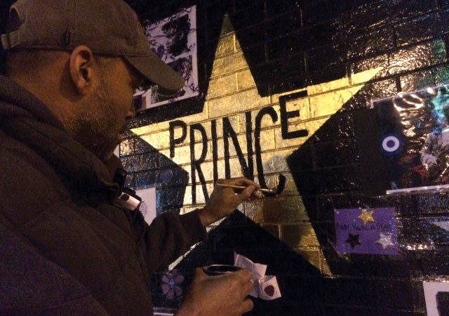Peyton Russell painting Prince Star