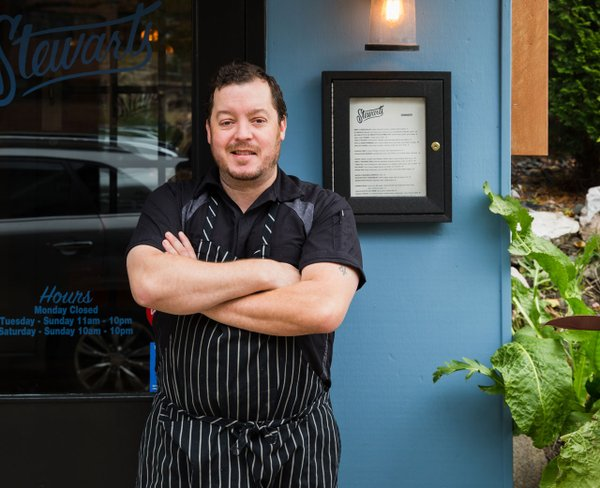 Max Thompson, chef/owner at Stewart's