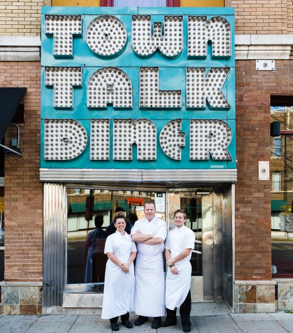 Charles Stotts, Kacey White, Sam Gilman of Town Talk Diner
