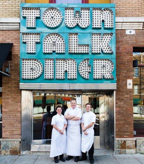 Charles Stotts, Kacey White, Sam Gilman of Town Talk Diner