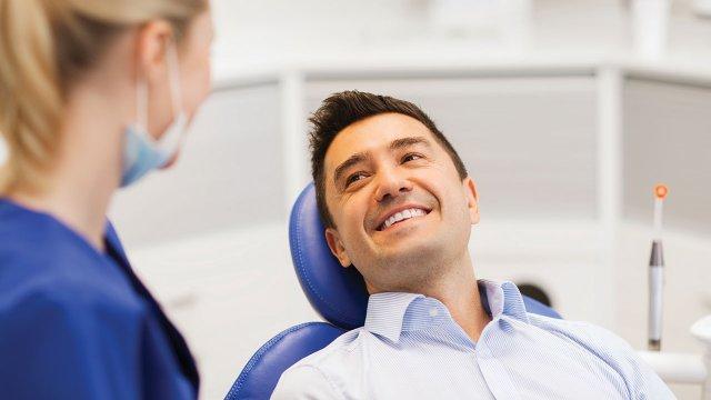 Patient in dentist chair