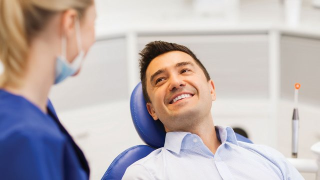 Patient in dentist chair
