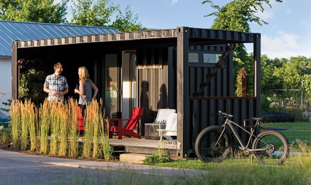 Shipping container home by Blackbox Container Store