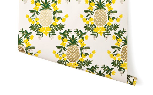 Rifle Paper Co Pineapple Wallpaper from Hygge and West