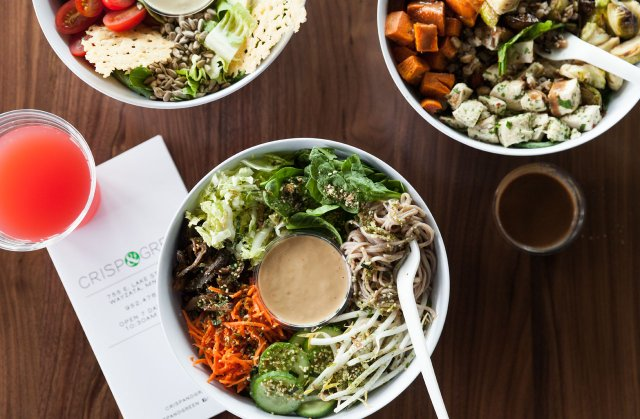 Salads at Crisp & Green