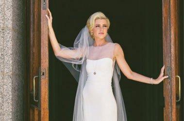 Bride's hair and makeup by Brett Dorrian