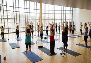 Yoga class at Fit Fest