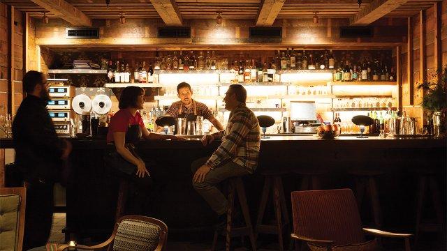 Back bar at Young Joni