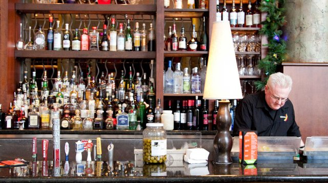 Bar at Pazzaluna in St. Paul