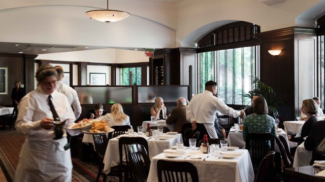 Brunch service at St Paul Grill
