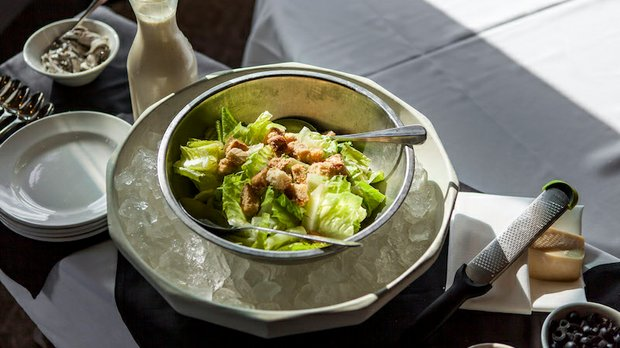 Chilled Caesar salad at Gianni's Steakhouse