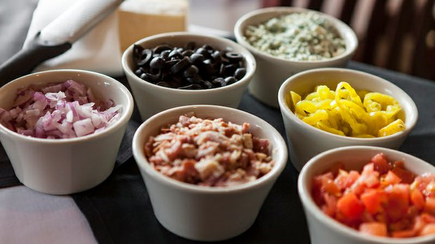 Salad fixings at Gianni's Steakhouse