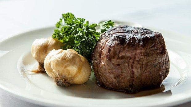 Steak entree at Gianni's Steakhouse