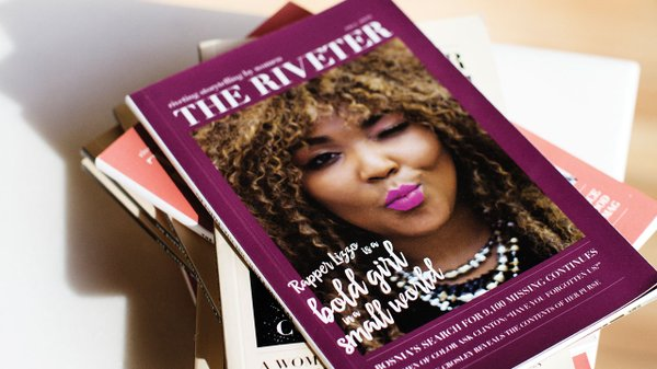 Issue 6 of 'The Riveter' magazine with Lizzo on the cover