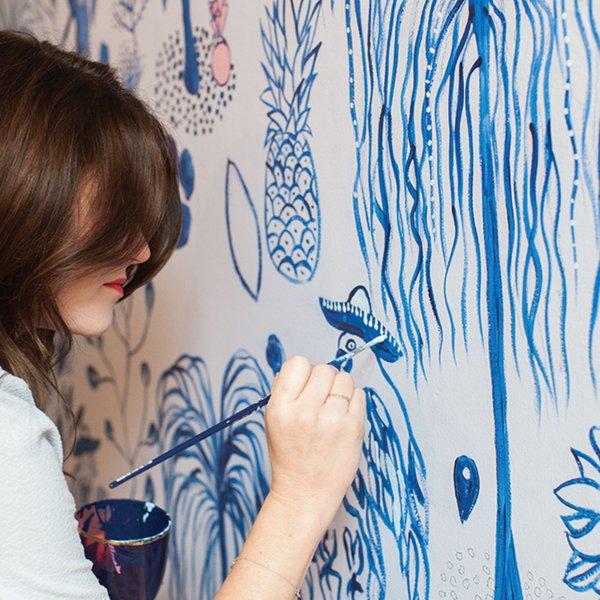 Jennifer Jorgensen painting custom wallpaper