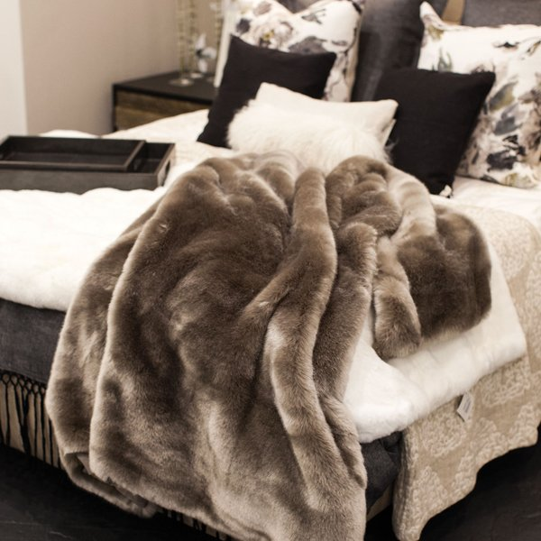 Faux fur blanket at Highcroft