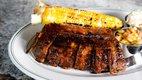 A stack of ribs from Birch's on the Lake