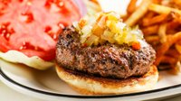 The signature King Henry VIII burger at Normandy Kitchen in Minneapolis