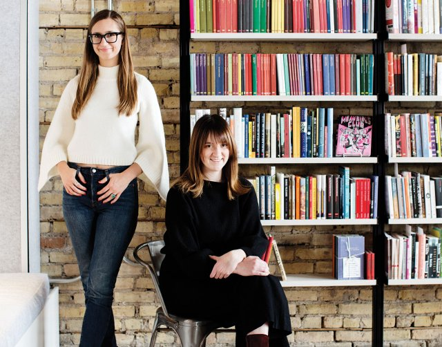 Kaylen Ralph and Joanna Demkiewicz, founder of 'The Riveter' magazine