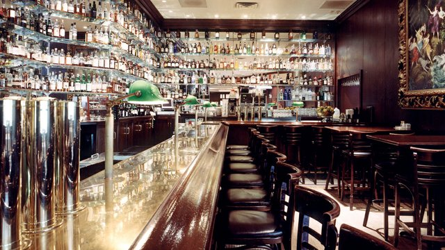 A view of the bar at St. Paul Grill
