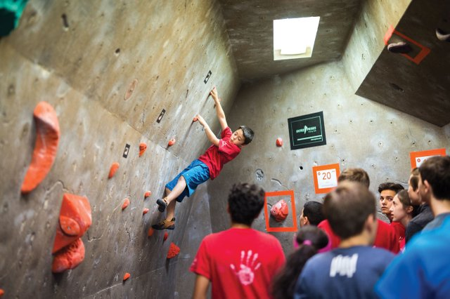 Indoor climbing at Vertical Endeavors