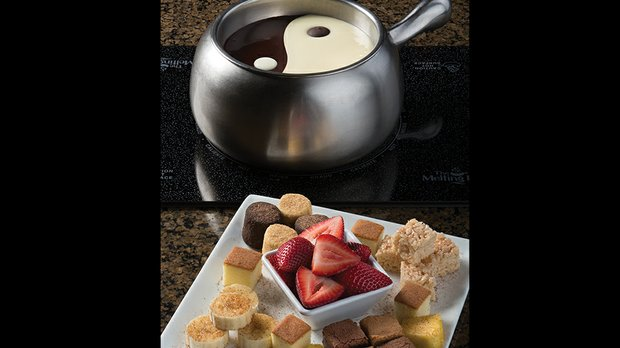 Dessert fondue at Melting Pot